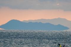 島が浮いて見える蜃気楼